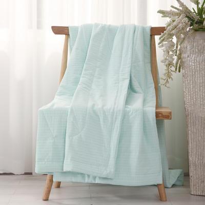 2018新款格调水洗千层棉花夏被 150x200cm 格调绿