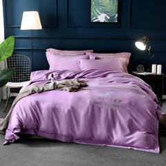 60%天丝色织贡缎面料 宽幅250cm 丁香紫