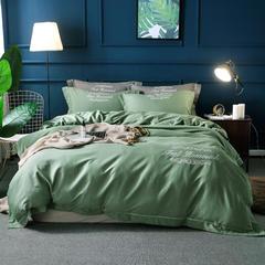 60%天丝色织贡缎面料 宽幅250cm 甘蓝绿