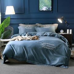 60%天丝色织贡缎面料 宽幅250cm 瀑布蓝