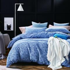双层针棉色织提花 宽幅250cm 华洛克-蓝+