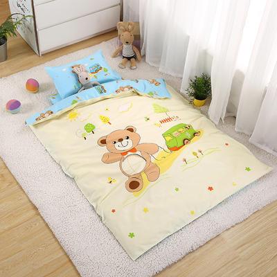 七彩童年 幼儿园被子三件套 婴儿用品 纯棉大阪定位13372儿童六件套 三件套 熊嘟嘟