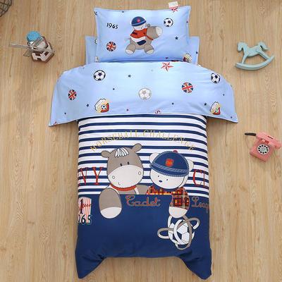 七彩童年 幼儿园被子三件套 婴儿用品 纯棉大阪定位13372儿童六件套 三件套不含芯 玩偶骑士