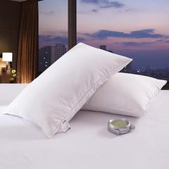 2018新款羽绒枕(纯色棉代尔枕芯单边) 白色(48×74cm)(只)50白鸭绒