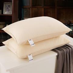 2018新款羽绒枕(纯色棉代尔枕芯单边) 土豪金(48×74cm)(只)50白鸭绒