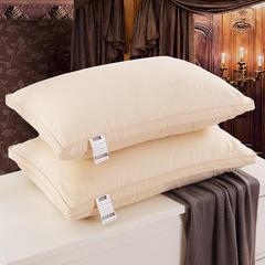 2018新款羽绒枕(纯色棉代尔枕芯双边) 土豪金(48×74cm)(只)50白鸭绒