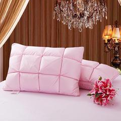 2018新款羽绒枕(面包枕) 粉色(48×74cm)(只)50白鸭绒