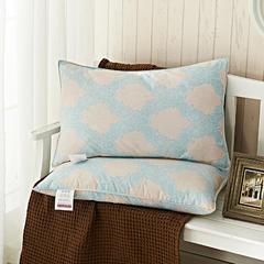 2018新款羽绒枕(欧式风情咖单边) 欧式风情咖(48×74cm)只鸭绒丝