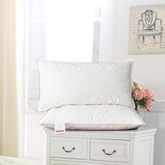 2018新款羽绒枕(纯棉枕芯) 白色(48×74cm)只鸭绒丝
