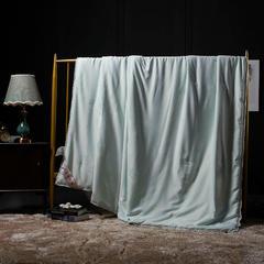 2018新款蚕丝被(拉菲花园)木棉 200X230cm1斤 拉菲花园-水绿(木棉)