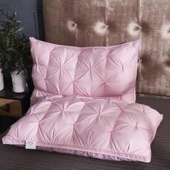 2018新款面包式羽绒枕天然羽毛枕保健枕芯单人枕 粉色48*74cm