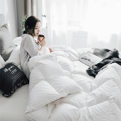 2018新款80支柔赛丝羽绒被(90%鸭绒) 200x230cm3.6斤(夏被) 白色