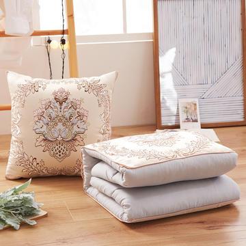 欧式提花抱枕靠垫 多功能抱枕被子两用靠垫被汽车靠枕办公室午睡空调被