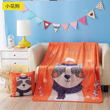 法兰绒抱枕靠垫 二合一抱枕毯两用抱枕被子办公室午休空调毯
