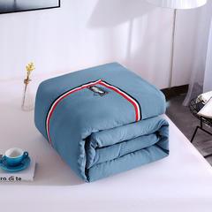 水洗棉织带羽丝绒冬被 1.5*2.0(4斤) 蓝色