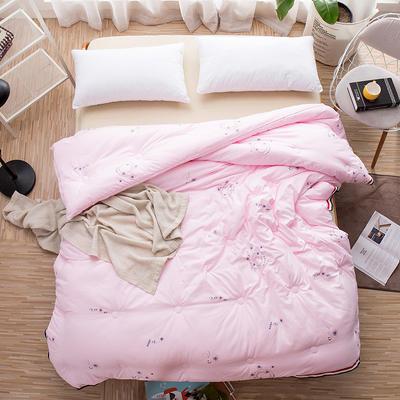 2018新款贝贝绒暖冬被 150x200cm(4.5斤) 暖绒-粉