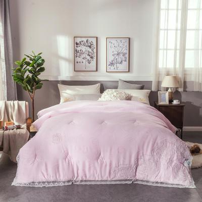 2018新款灯芯绒暖冬被-终版 200X230cm8斤 浅粉色