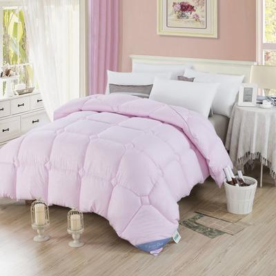 2018新款舒适印花羽丝绒被 150x200cm3斤 压花-粉色
