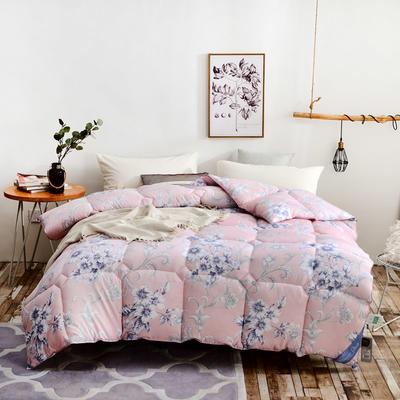 2018新款舒适印花羽丝绒被 150x200cm3斤 异国风情-粉