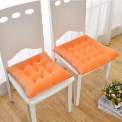慕蓝家纺   2018新品超柔水晶绒坐垫 40尺寸9针 橘色