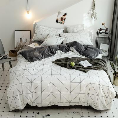 2018新款保暖棉加绒系列四件套 1.2/1.35米床单款三件套 格调