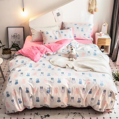 2018新款保暖棉加绒系列四件套 1.2/1.35米床单款三件套 可爱兔