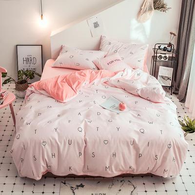 2018新款保暖棉加绒系列四件套 1.2/1.35米床单款三件套 情语