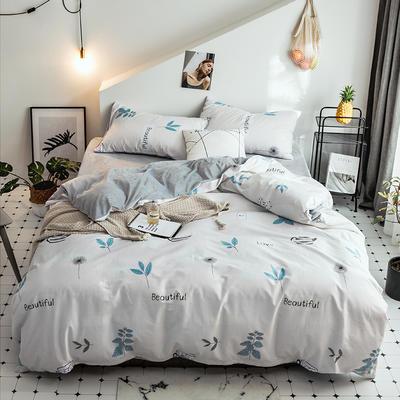 2018新款保暖棉加绒系列四件套 1.2/1.35米床单款三件套 叶语