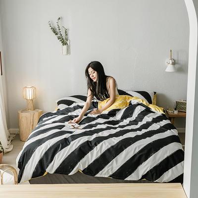2019新款全棉印象风系列四件套 1.35m床单款三件套 粉刷匠