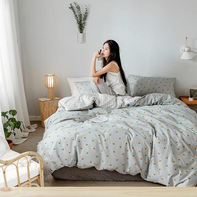 2019新款全棉印象风系列四件套 1.35m床单款三件套 枇杷