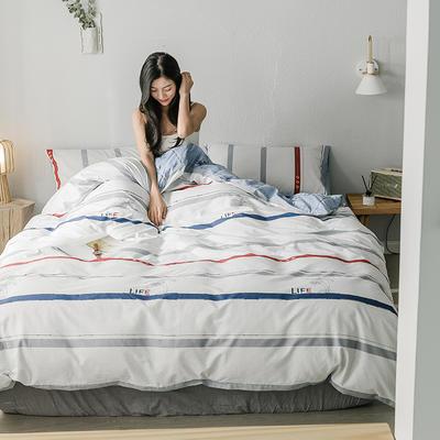 2019新款全棉印象风系列四件套 1.35m床单款三件套 时装秀
