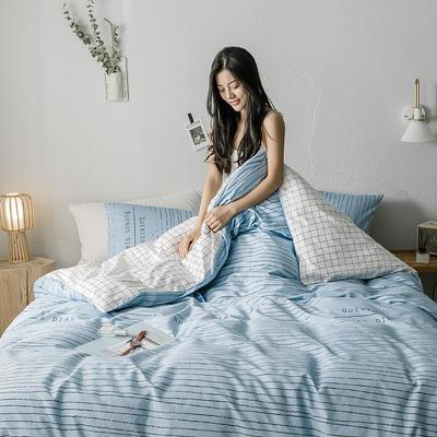 2019新款全棉印象风系列四件套 1.35m床单款三件套 早安-绿