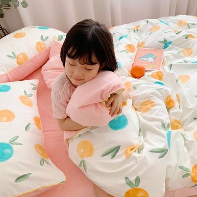 嵌绳棉加绒四件套 滚边设计 水晶绒四件套 法莱绒四件套 1.35m床单款三件套 小橙子