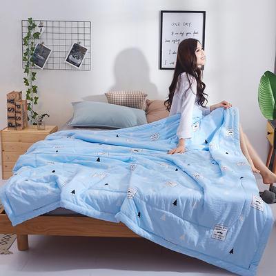 2018新款水洗棉夏凉被 100x150cm(0.9斤) AB版-森林兰
