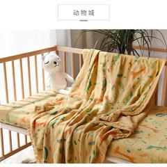 2019纱布毯子 120cmx120cm 动物园