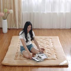 法兰绒梅花垫床垫 90*200cm 驼色