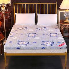 磨毛立体床垫榻榻米折叠防滑单双人床褥子学生宿舍 180*200cm 花开富贵