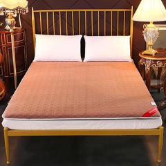 全棉床垫床褥加厚双人榻榻米垫子学生宿舍褥子 90*200cm 咖色