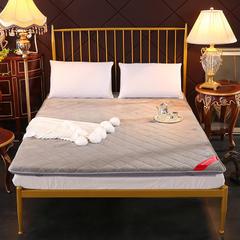法兰绒绗缝三明治床垫 180*200cm 灰色
