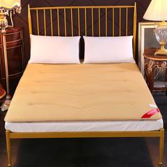 3D网眼床垫榻榻米加厚透气床褥垫被可折叠双人 120*200cm 驼色