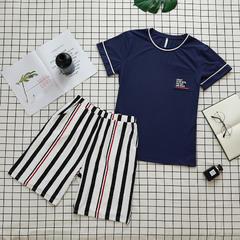 旅途--男款夏季全棉睡衣家居服 尺寸:XLL(适合170斤内) 旅途