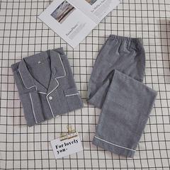 潮生活秋冬磨毛绒布睡衣---温暖-套装男 尺寸:L(适合125-145斤) 温暖-套装男