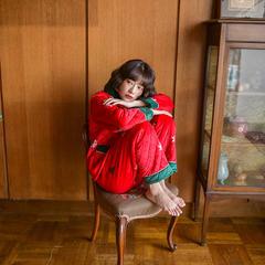潮生活秋冬季三层夹棉睡衣家居服圣诞快乐(女款) 尺寸:M(适合120斤内) 圣诞快乐