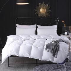 素色鹅绒棉被 150x200cm(4斤) 白色