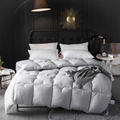 素色鹅绒棉被 150x200cm(4斤) 浅灰