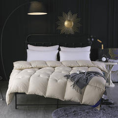 素色鹅绒棉被 150x200cm(5.5斤) 浅驼
