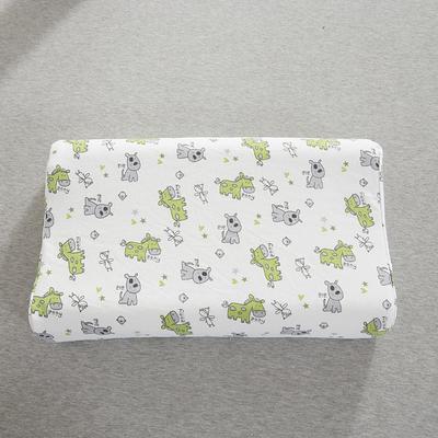 2020新款儿童乳胶枕 可爱小马  绿(35*57cm)