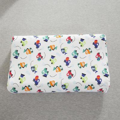 2019新款儿童乳胶枕 可爱小汽车(35*57cm)