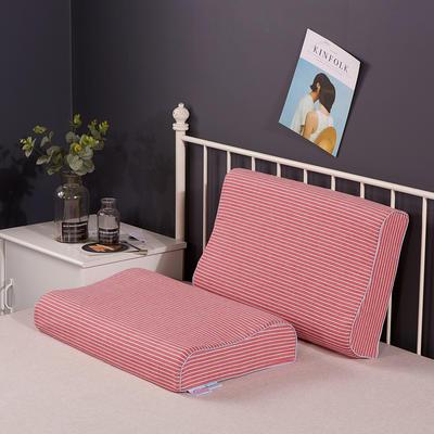 2020新款乳胶枕系列—纯棉水洗棉乳胶枕(40*60cm) 纯棉水洗粉细条(40*60cm)