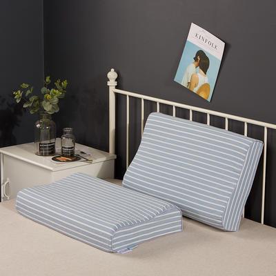 2020新款乳胶枕系列—纯棉水洗棉乳胶枕(40*60cm) 纯棉水洗蓝大条(40*60cm)
